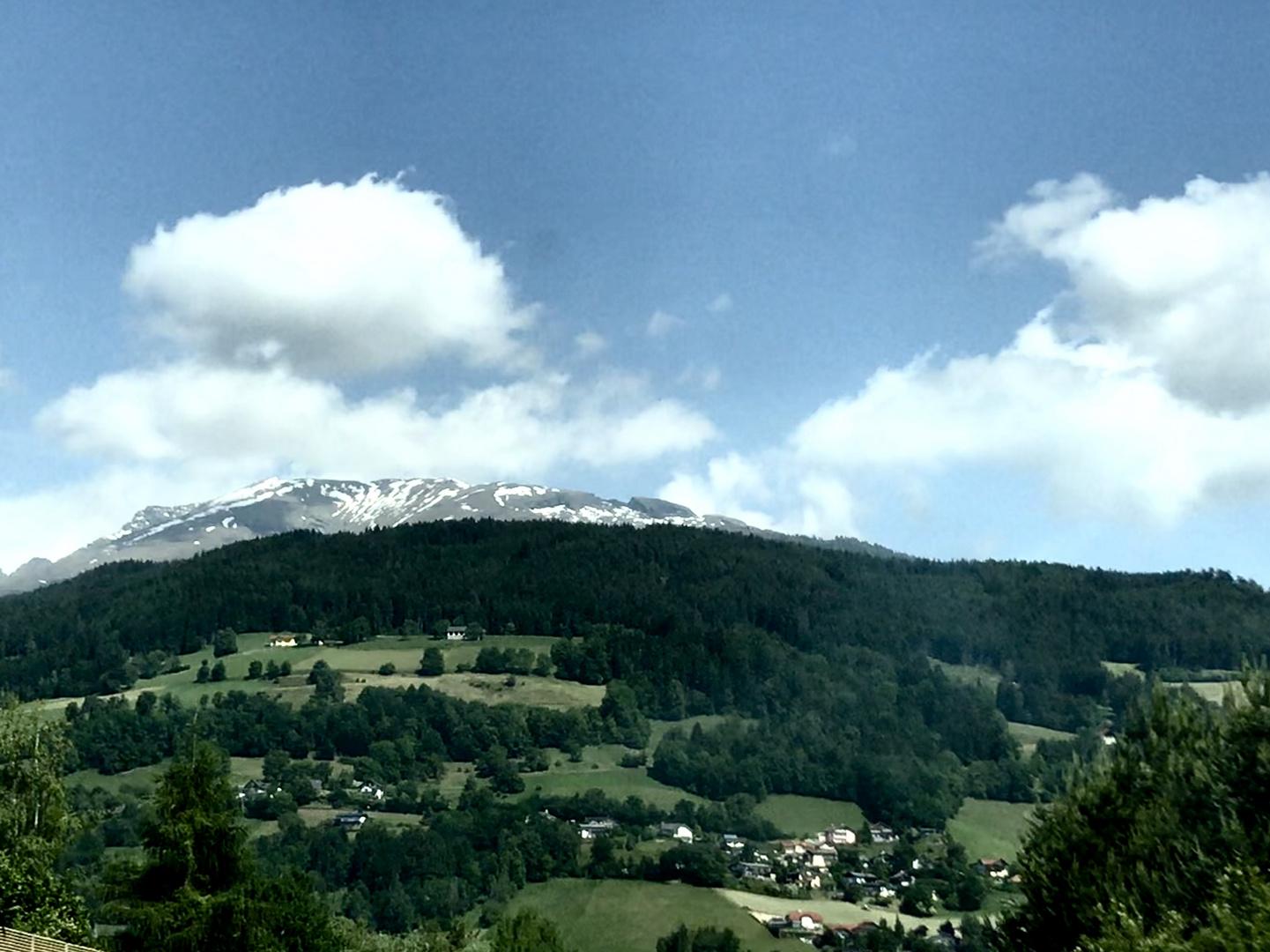 Zurück geht es schweren Herzens aus dem Süden über s schöne Österreich