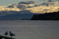 Zusammenbruch des Föhns am Alpenrand