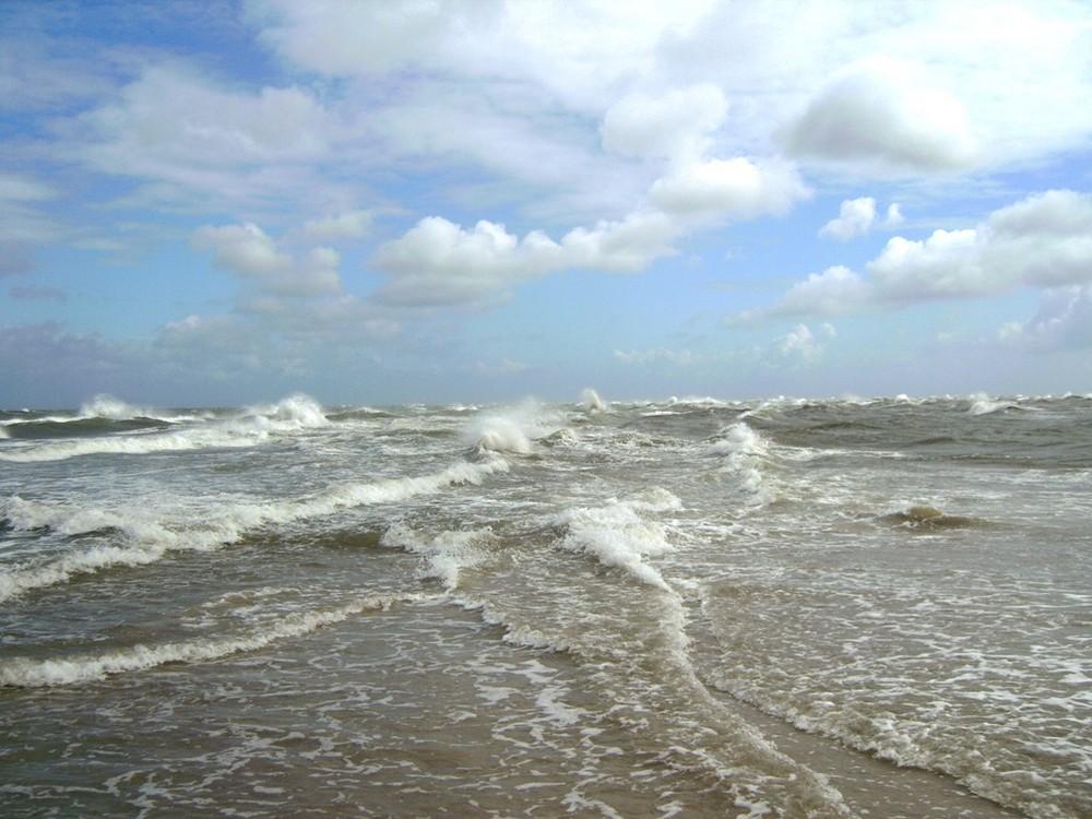 zusammenfluß von nordsee und ostsee foto  bild
