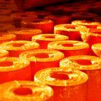 Zusammengerolltes Orange