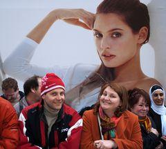 Zuschauer beim Grazer Faschingsumzug!