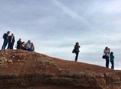 Zuschauer in Nazaré