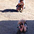 Zwei beim Fotografieren