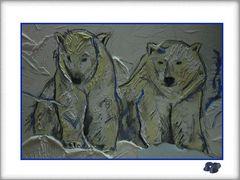 * Zwei Eisbären in guter Hoffnung * entdeckt...