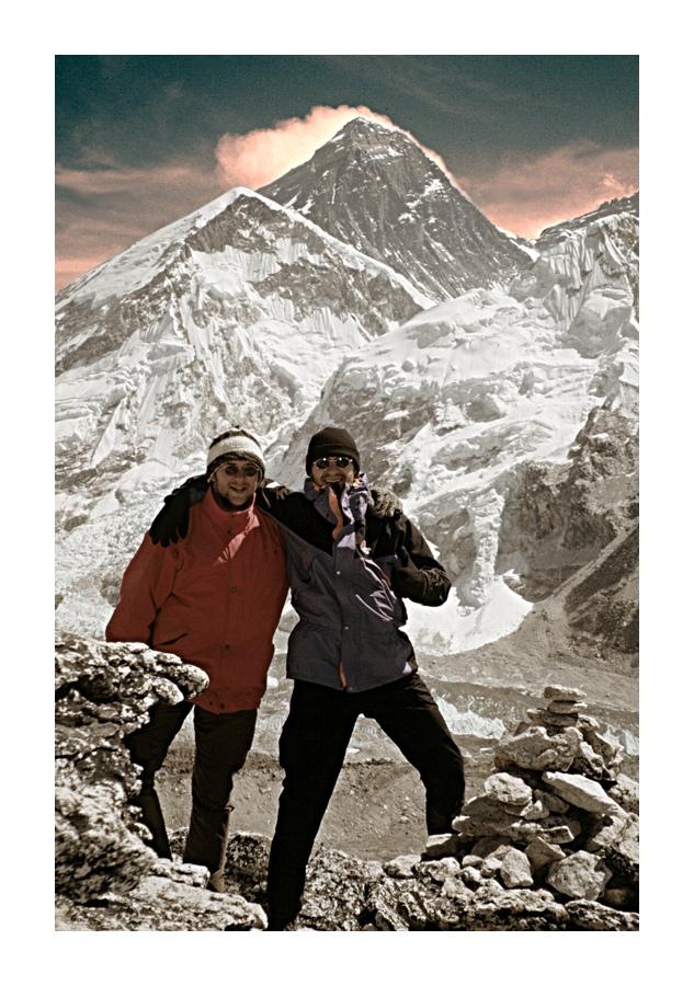 zwei Freunde am Everest