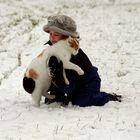 Zwei Freunde im Schnee.....