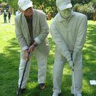 Zwei Golfspieler