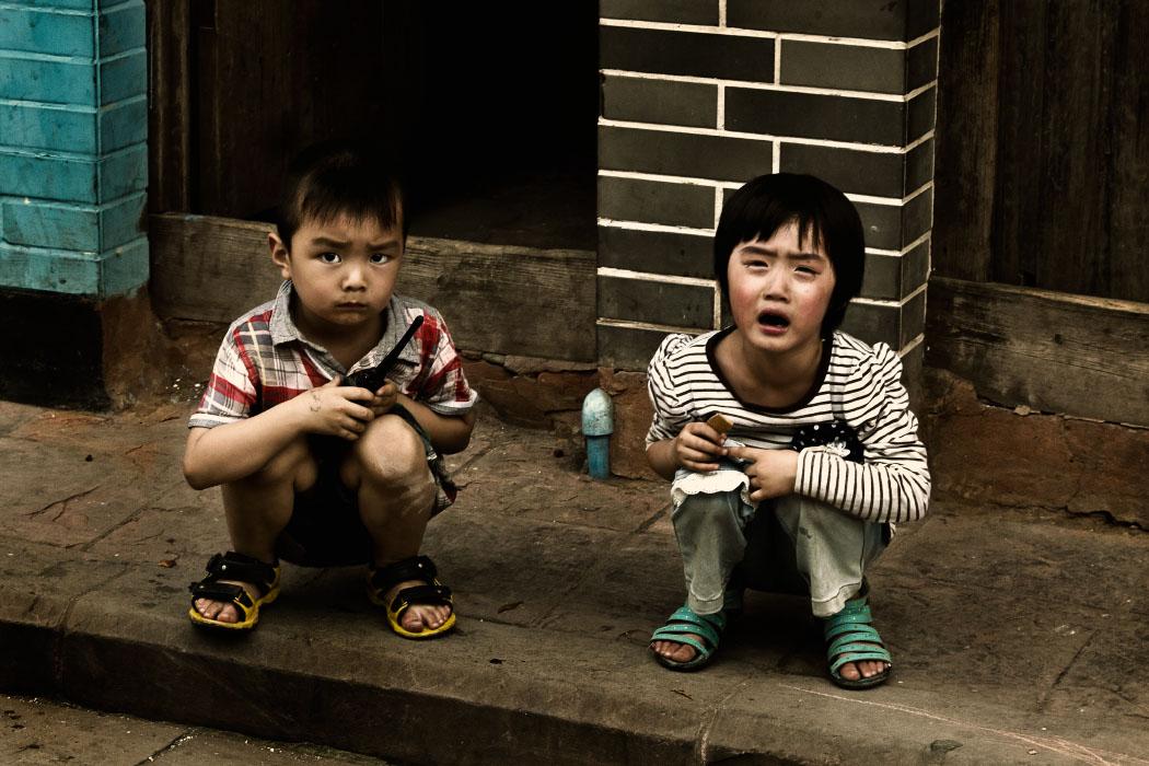 Zwei Kinder in China