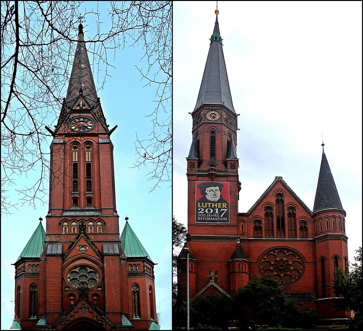 Zwei Kirchen ein Baumeister