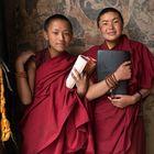 Zwei Novizen der Choede Monastery, Everest-Gebiet, Tibet