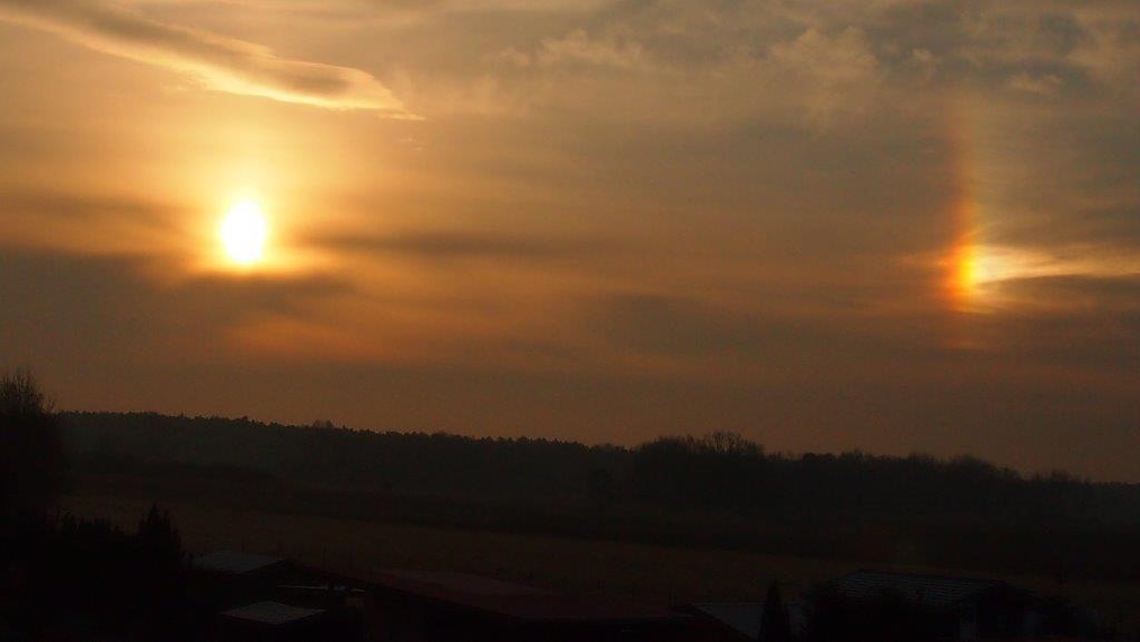 Zwei Sonnen am Himmel? Foto & Bild | sonnenaufgänge