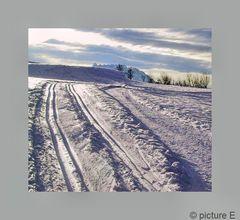 Zwei Spuren im Schnee   (zum 2. Advent)