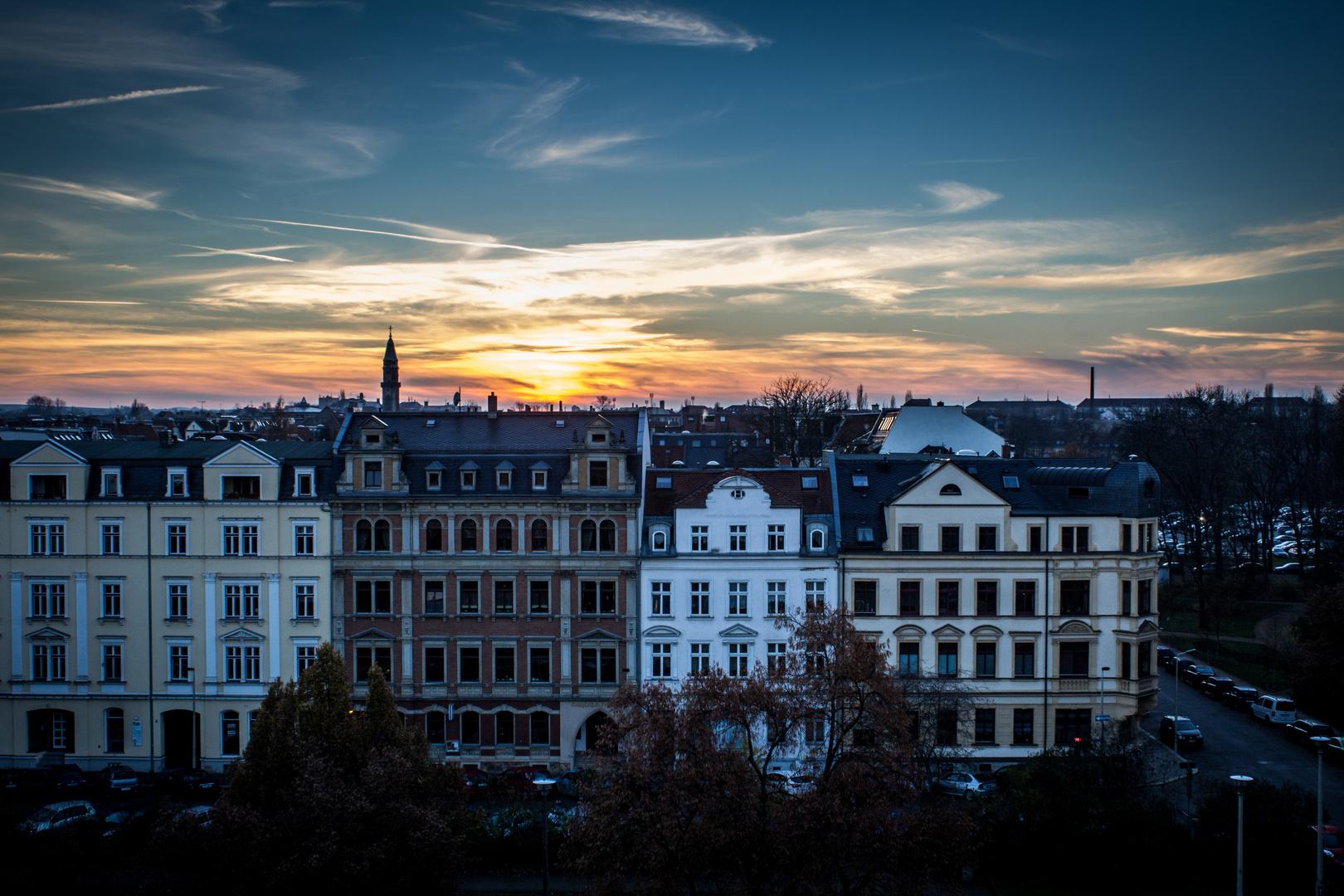 Zwickau, Römerplatz bei Nacht
