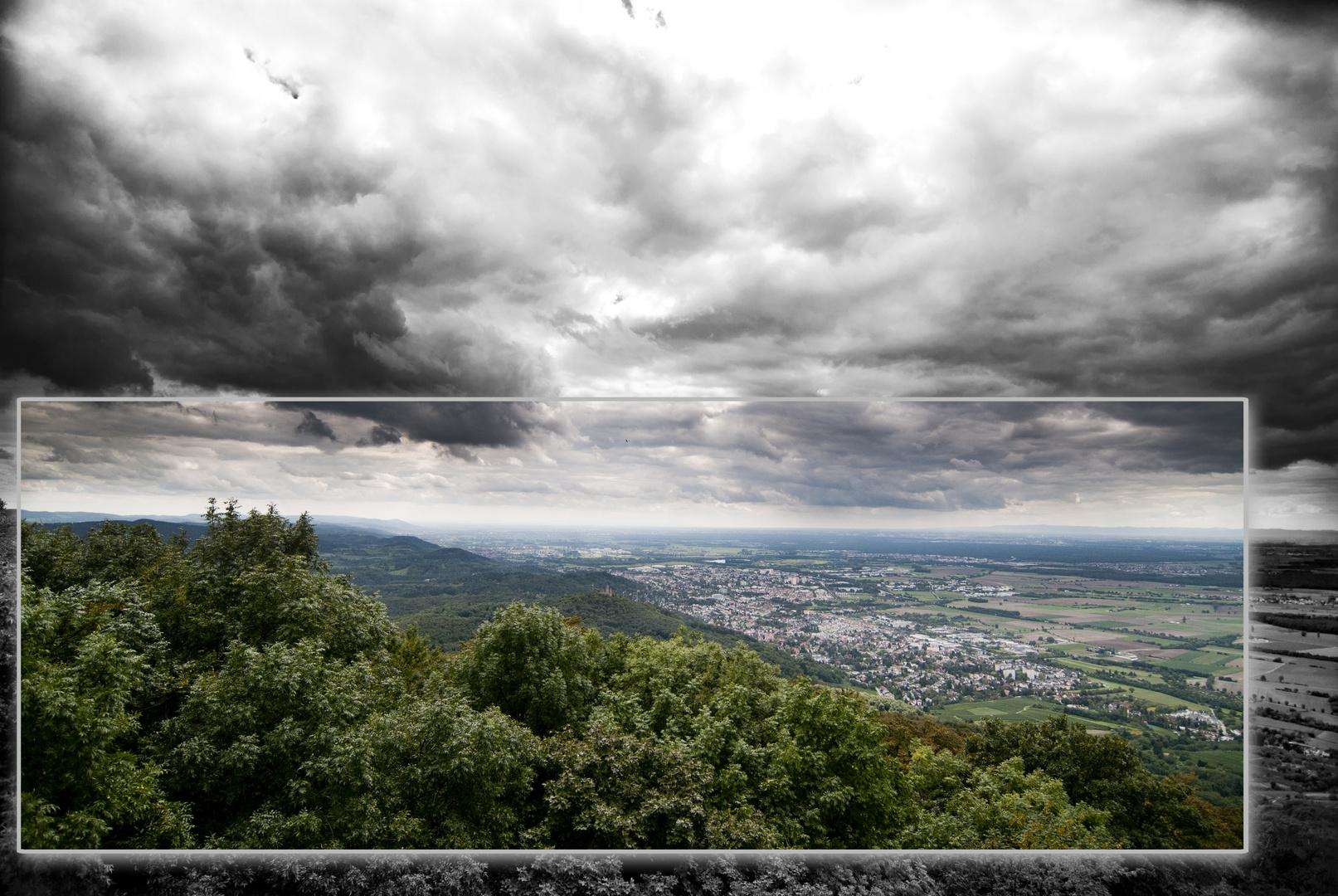 Zwingenberg unter Wolken