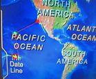Zwischen den Inseln  Fiji und Samoa  liegt die Date Line