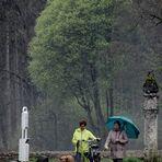Zwischen den Skulpturen